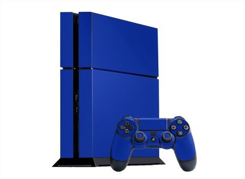 Sony PlayStation 4 Skin (PS4) - NEW - OCEAN BLUE system skins faceplate decal mod - http://www.rekomande.com/sony-playstation-4-skin-ps4-new-ocean-blue-system-skins-faceplate-decal-mod/