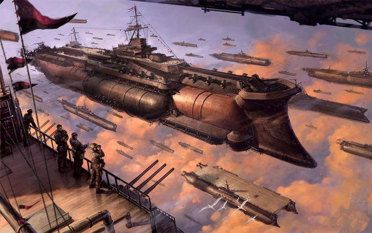 Ciencia Ficción Steampunk Battleship Last Exile Fondo de Pantalla