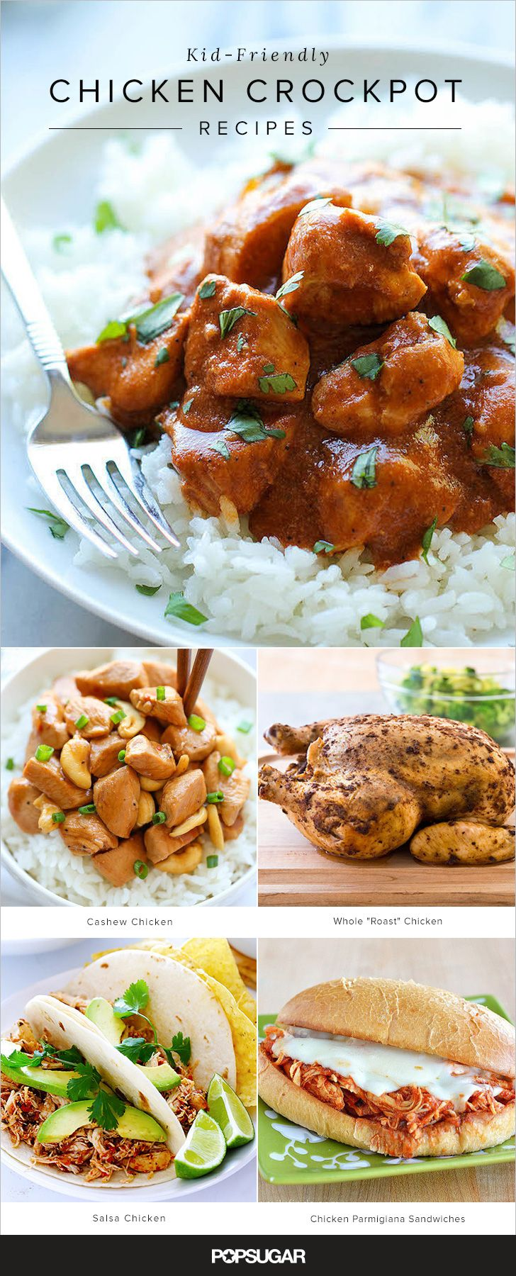 19 kid-friendly chicken recipes you can make in the crockpot that you'll enjoy too!