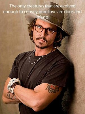 Johnny Depp - dogs and infants