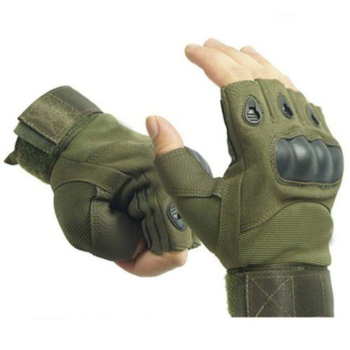 Ventilate Wear-resistant Military Equipment Half Finger Fingerless Tactical Gloves