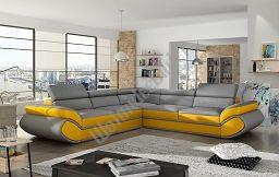 Couchgarnitur GENESIS L Sofa mit Schlaffunktion Couch Polsterecke Ecksofa