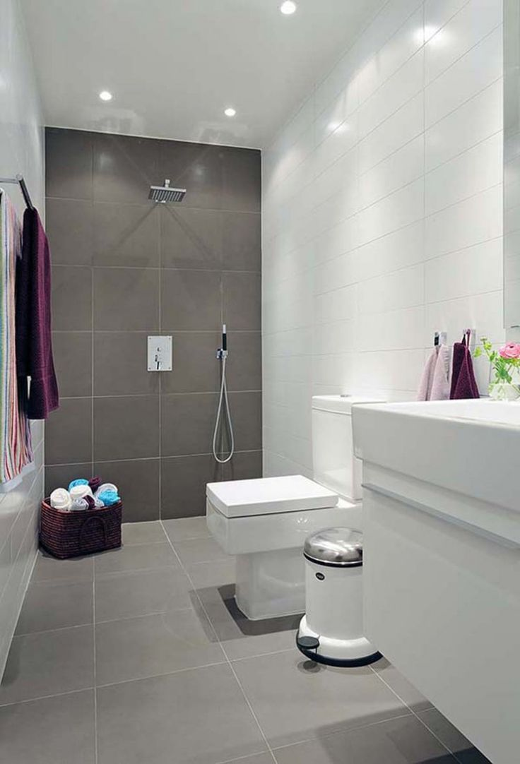white bathroom grey floor - Google Search