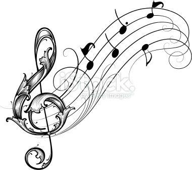 Musique note de musique cl de sol partition musicale - Note musique dessin ...