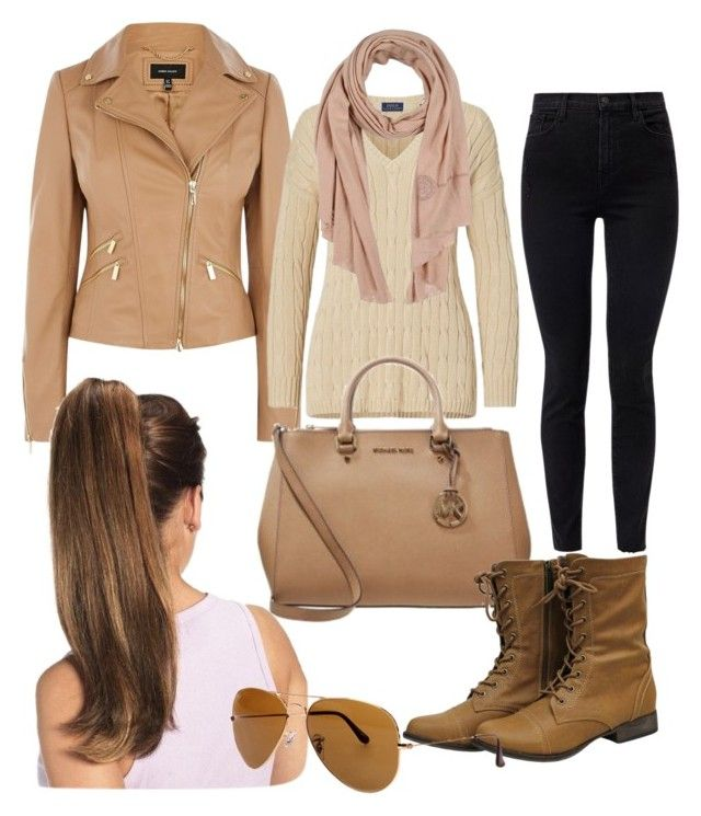"""""""Untitled #27"""" by devih on Polyvore featuring Karen Millen, Polo Ralph Lauren, J Brand, Ermanno Scervino and Ray-Ban"""