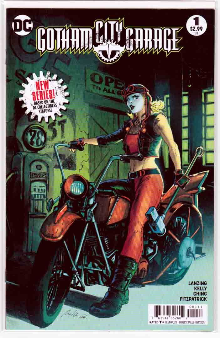 Gotham City Garage #1 (2017) Rafael Albuquerque Cover & Brian Ching Pencils, Collin Kelly & Jackson Lanzing Story, Based on the DC Collectable Gotham Garage Statues