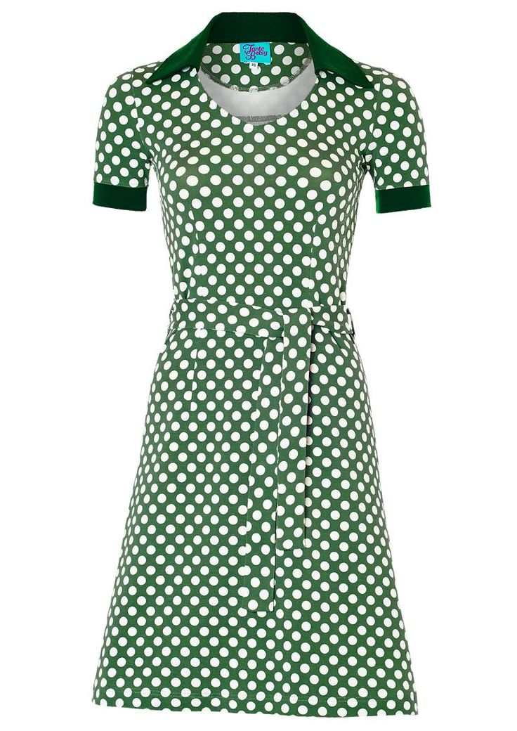 Sporty Tante Betsy kjole ZOE GREEN grøn prikket /dress