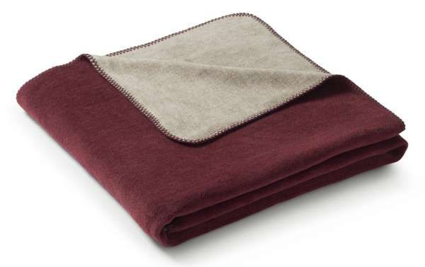 Wohndecke Duo Cotton Melange Burgund Grau 150x200 Kaufen Wohndecke Decke Wohnen