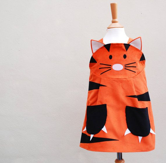 Tiger girls dress by wildthingsdresses on Etsy, $60.00