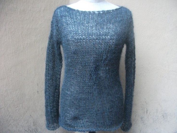 sweter popielaty moherowy