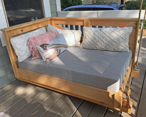 Sunbrella Daybed Custom Cushion Crib Bed Size Rustic Home Etsy Porch Swing Bed Bed Swing Outdoor Daybed Cushion