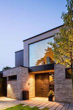 casas minimalistas y modernas accesos