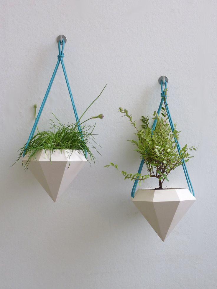 Diamond Hanging Planter - Pair. £50.00, via Etsy.
