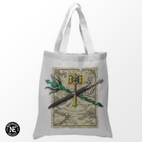 Treasures of White Plume & Map White Tote Bag  by NostalgiaCollect