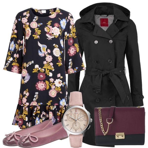 Outfit Kombinationen: Blossom bei FrauenOutfits.de ___ #abendoutfit #besondereranlass #essengehen #restaurant #date #geburtstagsoutfit #party #outfitinspiration #outfit #mode #frauenmode #damenmode #fossil #fossiluhr #blümchen #kleid #mantel