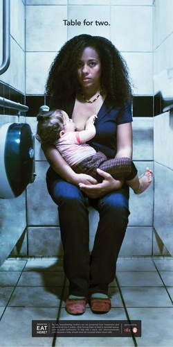 Powerful breastfeeding campaign photos reveal women's psycho-social struggles with breastfeeding in public. Please read!