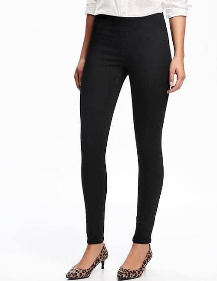 Old Navy Womens Mid-Rise Rockstar Jeggings for Women Black Size 16