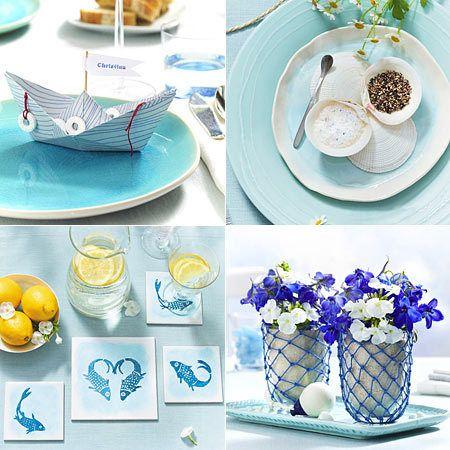 maritime tischdeko ideen in blau wei kommunion pinterest tischdeko ideen maritim und. Black Bedroom Furniture Sets. Home Design Ideas