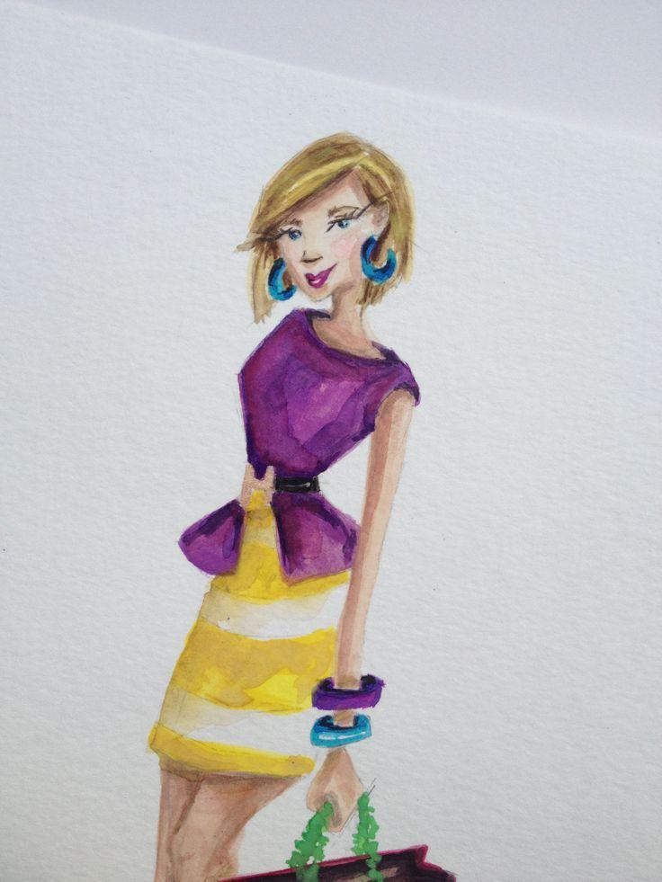 Fashion Illustrator Carrie Beth Taylor  www.carriebethtaylor.com