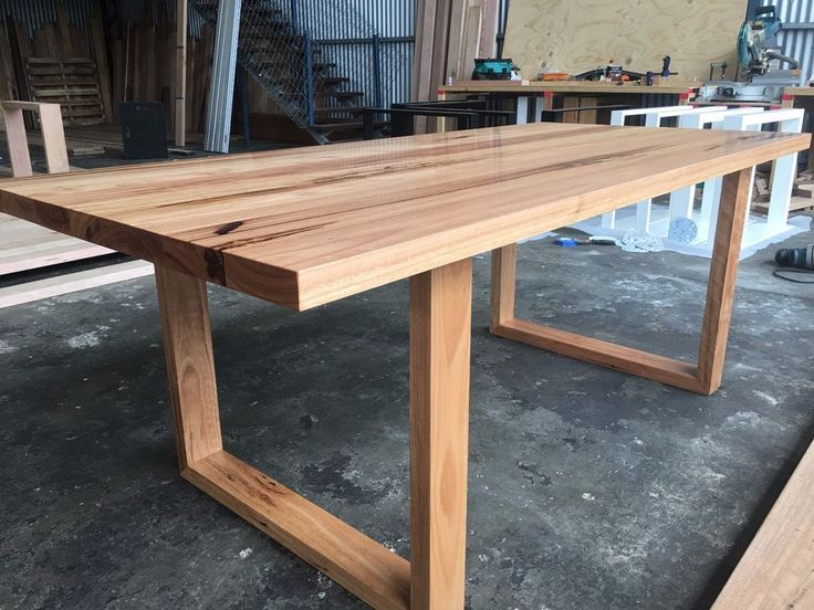These tables sit proudly on locally made heavy duty matching blackbutt loop legs. At Custom House Furniture we make all sorts of things but among them are custom size dining tables to suit you and your loved ones. | eBay!
