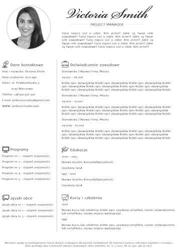 Szablon CV Ophelia http://bestcv.eu/szablon-cv-list-motywacyjny-referencje-ophelia
