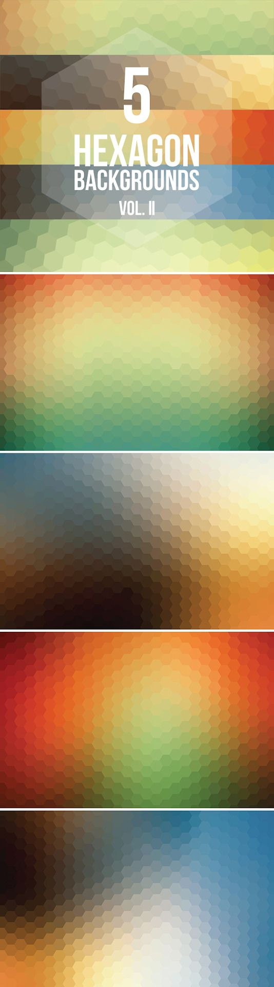 5 Free Hexagon Backgrounds Vol. II