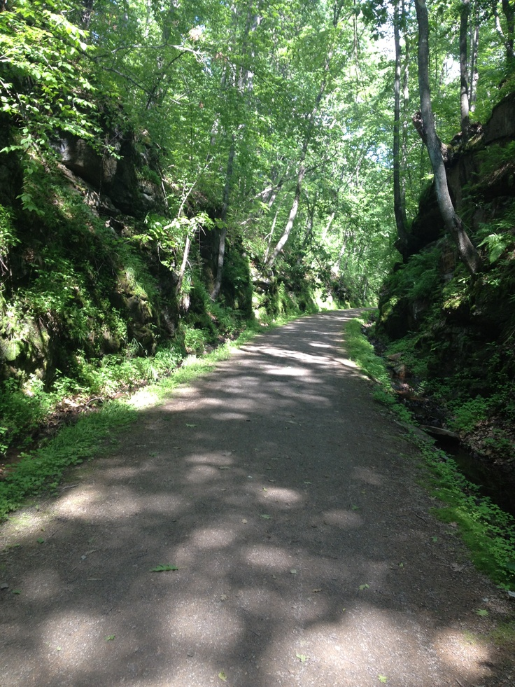 Biking on the rail trail