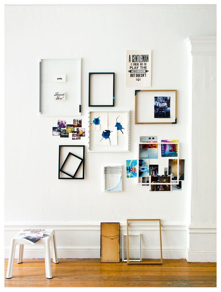 Decoração de paredes brancas