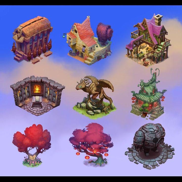 Buildings for Ravenskye City by ~bear65