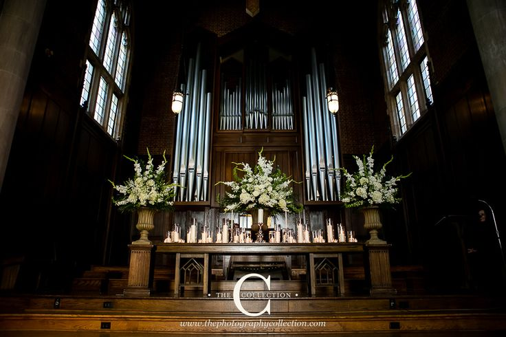 Alter at Scarritt Bennett Wightman Chapel Wedding in Nashville, TN