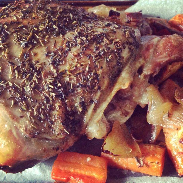 Slow Cooked Roast Lamb #yiah #aussieroastblend