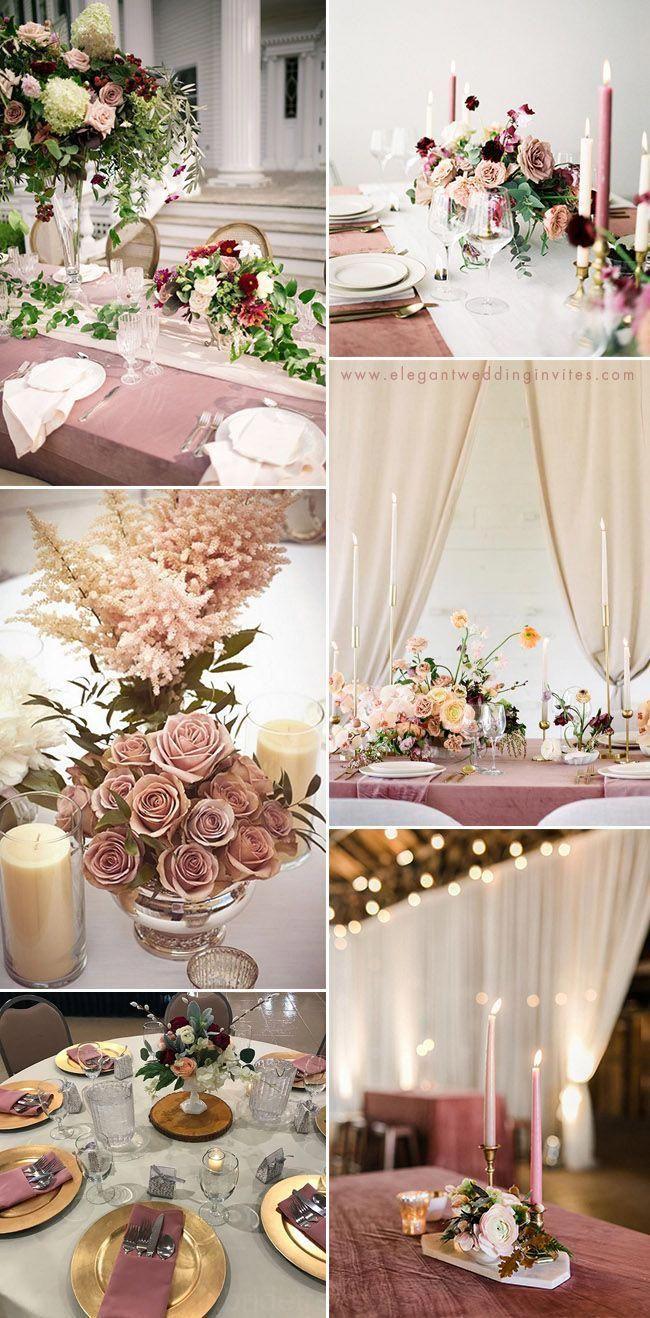 Elegant Vieux Rose Table De Mariage Des Idees De Decoration Champagneweddingdress Deco Mariage Rose Poudre Theme Couleur Mariage Deco Mariage Romantique