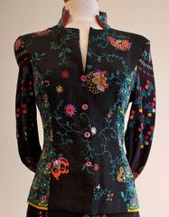 Jacket Elegance Embroidered back