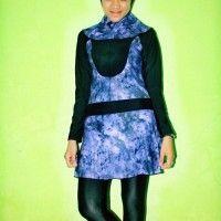 BRMD201432 Baju Renang Muslimah Dewasa Warna Ungu Motif Abstrak beli di ellima.web.id