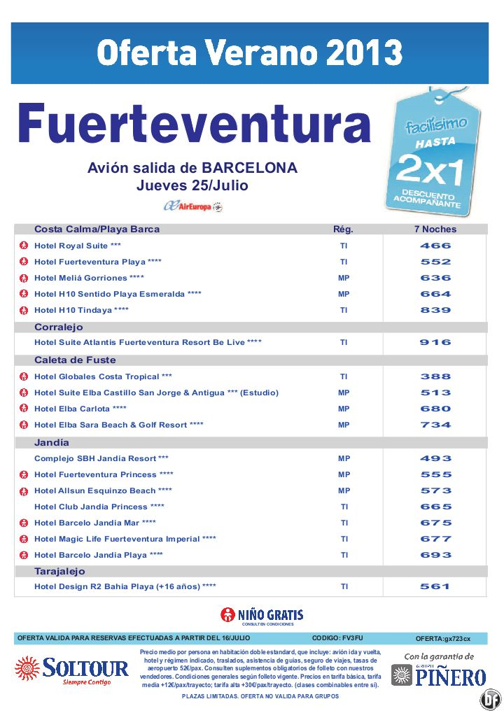 Hasta 2x1 hoteles en Fuerteventura. salidas desde Barcelona - http://zocotours.com/hasta-2x1-hoteles-en-fuerteventura-salidas-desde-barcelona-3/