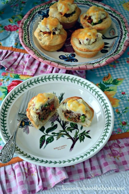 Mini Shepard Pies - these would be great for a party where finger foods are the preferred fare