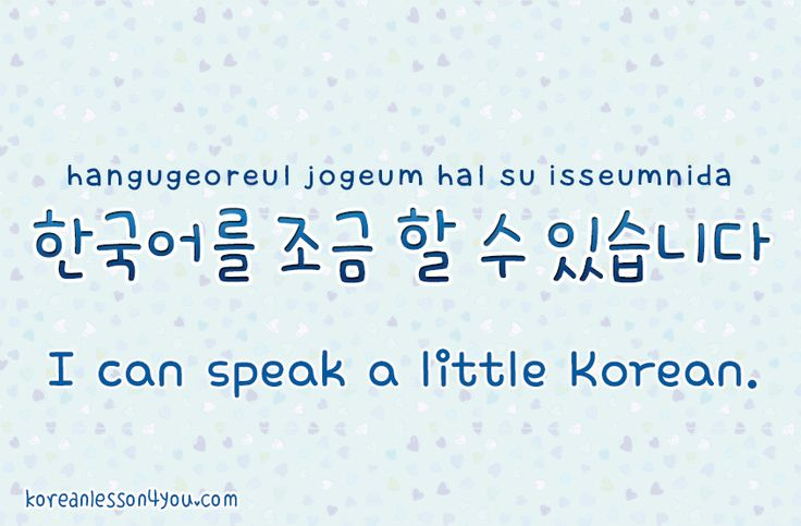 I can speak a little korean | I am so happy to be learning ...