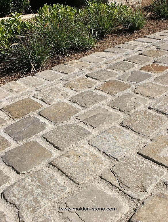 Traditional...I love pavers