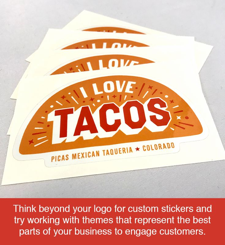 Custom stickers are great for sharing your logo but that doesnt have to