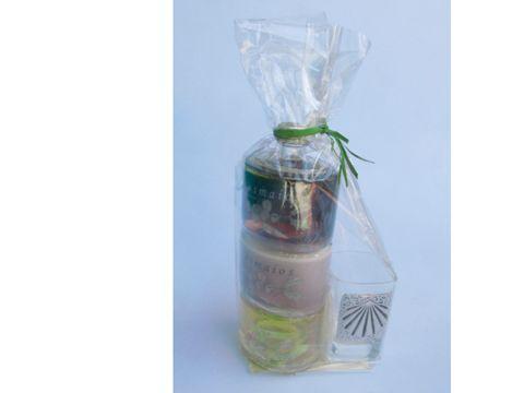 OsMaios - 3 sabores 1 vaso adorno Estaño LICOR CREMA ARTESANAL
