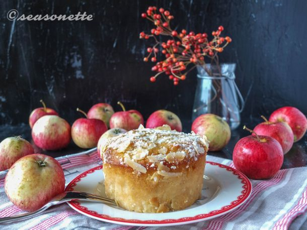 Apfel Marzipan Kuchen im Glas