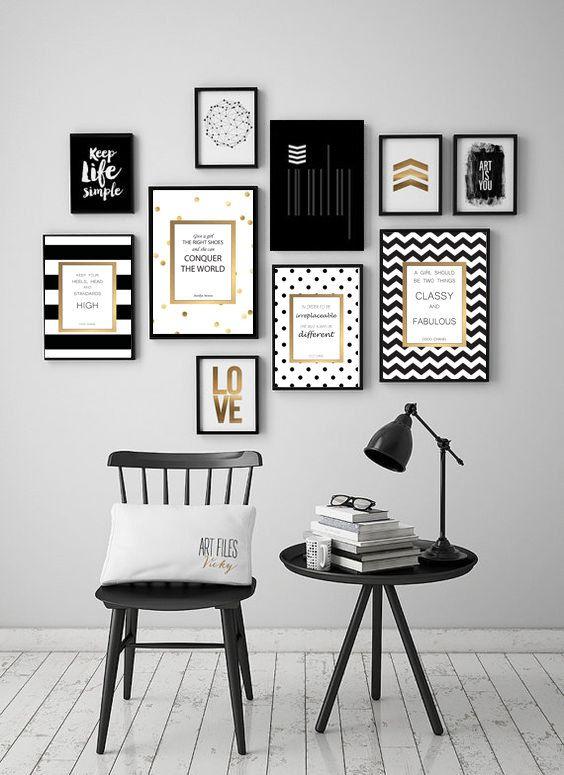 Kate Spade Inspired Artwork Quotes – Digital Print Download 4 Pcs