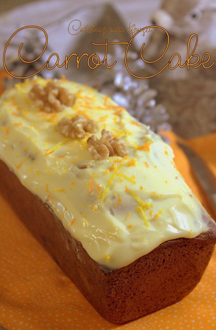 Le Carrot cake, un gâteau aux carottes râpées et fruits secs concassés. Ce carotte cake est recouvert d'un glaçage, une recette simple et originale