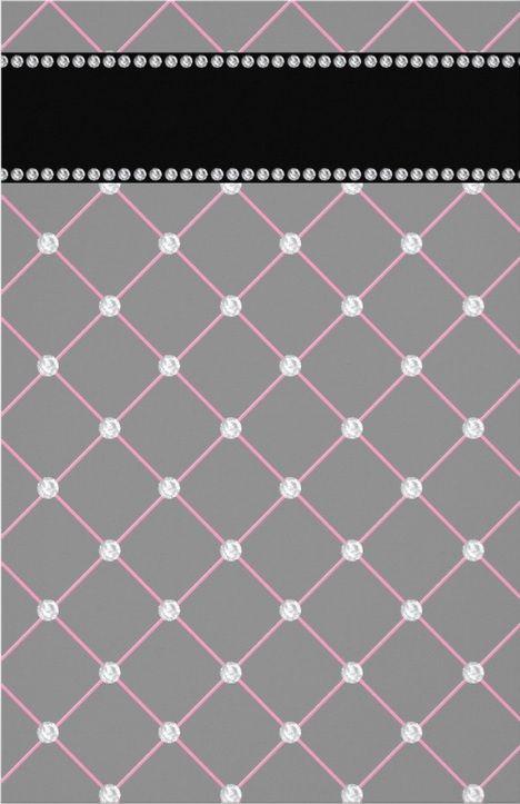 diamonds on gray & pink - uploaded by Lynn White