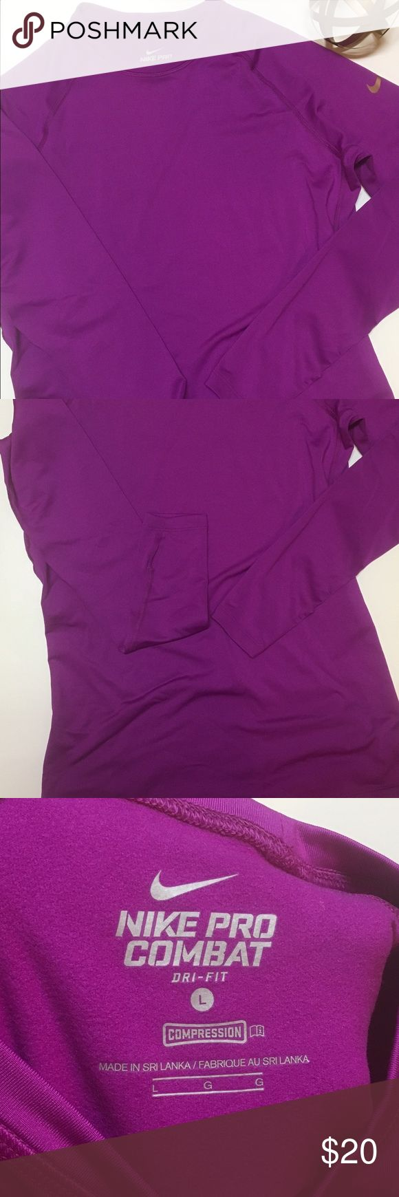 Nike Pro Combat Dri-Fit Great condition. Thumb holes. Nike Tops