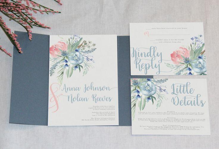 Blue Wedding Invitation: Best 25+ Slate Blue Weddings Ideas On Pinterest