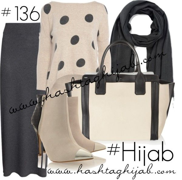 Hashtag Hijab Outfit #136 by hashtaghijab featuring a dot sweaterAX Paris dot sweater€17 - axparis.comH M long skirt€16 - hm.comTimeless black leather bootspret-a-beaute.comChloé leather tote€1.015 - net-a-porter.comEmporio Armani scarve€91 - armani.com