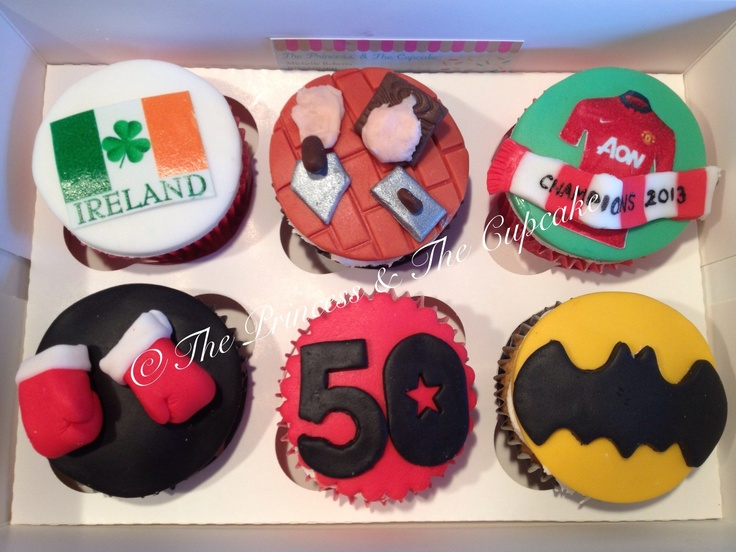 Personalised cupcakes for an Irish plasterers 50th