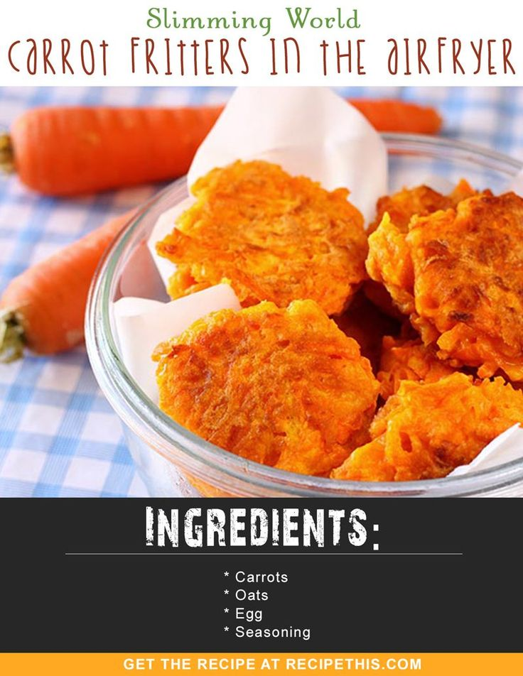 Slimming World Carrot Fritters In The Airfryer via @recipethis