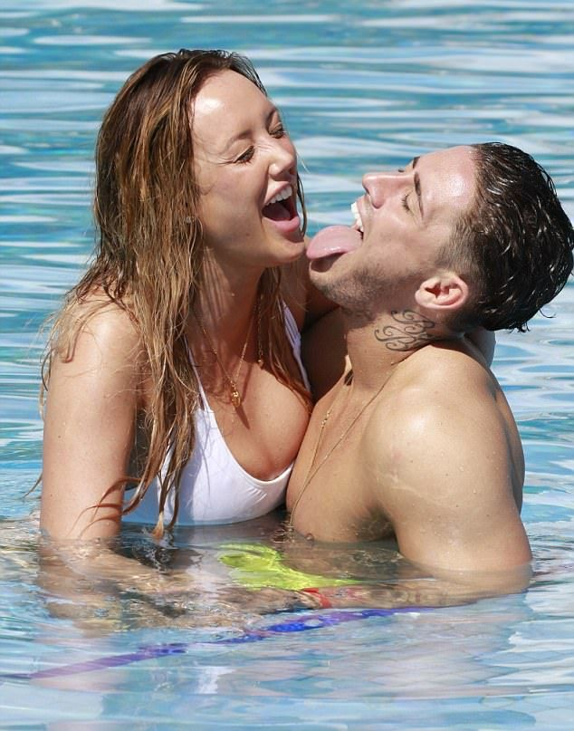 Stephen Bear LICKS Charlotte Crosby during romantic Caribbean break #dailymail